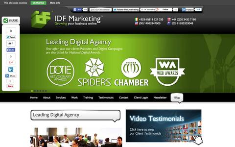 Screenshot of About Page idfmarketing.com - Digital Marketing Agency based in Dublin & Limerick | IDF Marketing - captured Oct. 29, 2014