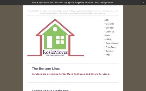 Screenshot of Menu Page creatinghomellc.com - * Price Tags — RosieMoves: Chaos to calm - captured Oct. 6, 2014