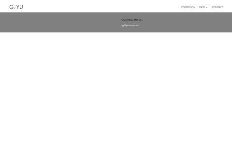 Screenshot of Contact Page graceyu.com - CONTACT - g.Yu fotografie - captured Sept. 30, 2018