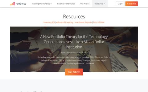Resources | Fundrise