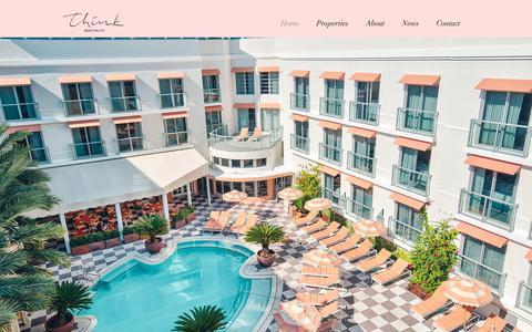 Screenshot of Home Page thinkhospitality.com - Think Hospitality   Miami Beach - captured Oct. 18, 2018