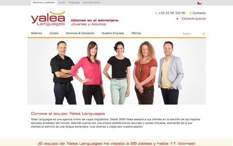 Screenshot of Team Page yalea.cl - Conoce a nuestro equipo | Yalea estudiar idiomas en el extranjero - captured Aug. 27, 2017