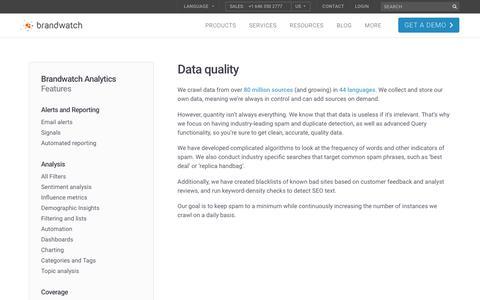 Data quality | Brandwatch