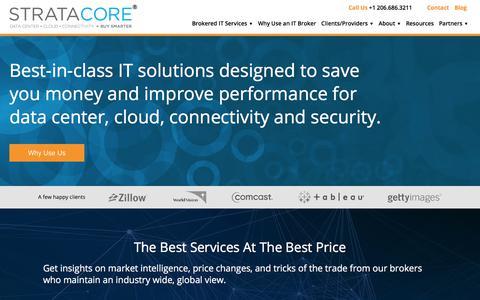 Screenshot of Home Page stratacore.com - Seattle IT Broker | Stratacore - captured July 22, 2017