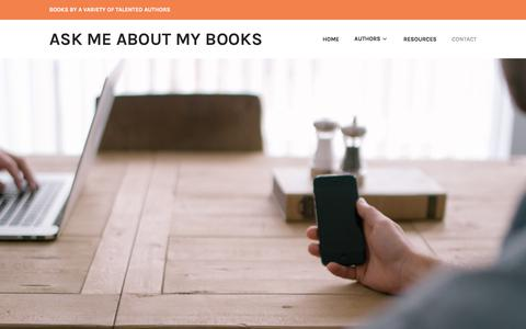 Screenshot of Contact Page wordpress.com - Contact – Ask Me About My Books - captured Oct. 6, 2017