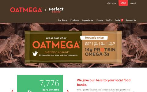 Screenshot of Home Page givebar.com - Oatmega - captured Jan. 24, 2015