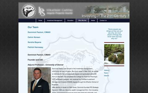 Screenshot of Team Page investps.com - IPS Strategic Capital - Team - captured Oct. 4, 2014