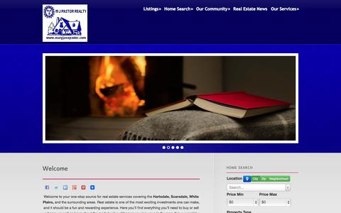 Screenshot of Home Page maryjanepastor.com - Mary Jane Pastor - captured Oct. 1, 2014