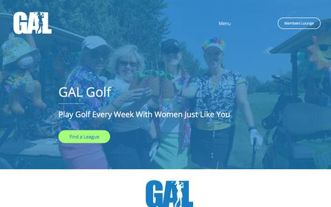Screenshot of Home Page galgolf.ca - GAL Golf - The Best Women's Golf Leagues in Ottawa - captured Sept. 25, 2018