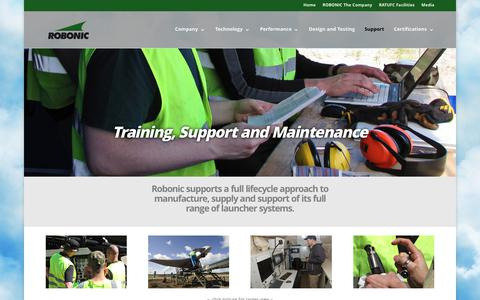 Screenshot of Support Page robonic.fi - Training, Support and Maintenance - Robonic - captured Nov. 3, 2017