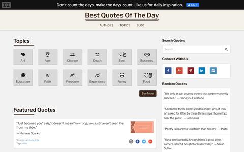 Screenshot of Home Page bqotd.com - Best Quotes of the Day - captured Nov. 19, 2019