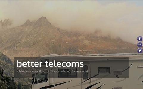 Screenshot of About Page better-telecoms.co.uk - about - better telecoms 01484 911 912 - captured Oct. 5, 2018