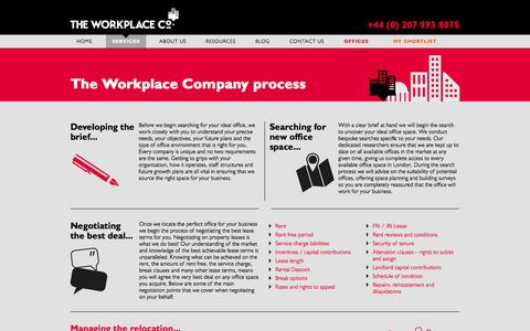 Screenshot of Services Page theworkplacecompany.co.uk - Services -The Work Place Company - captured Sept. 30, 2014