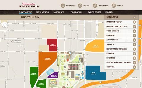 Screenshot of Maps & Directions Page thefair.com - Washington State Fair : TheFair.com - captured Sept. 19, 2014