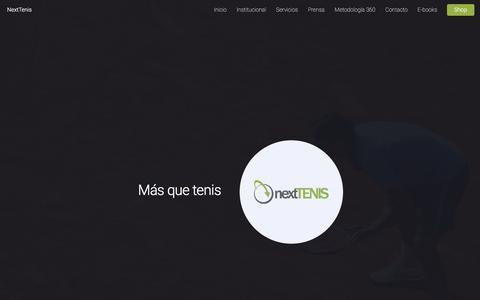 Screenshot of Home Page nexttenis.com.ar - NextTenis - captured Jan. 27, 2017