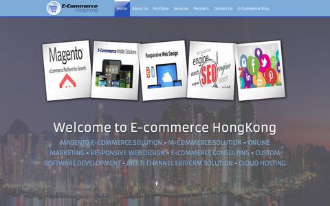 Screenshot of Home Page e-commerce-hongkong.com - E-Commerce Solution Provider | e-commerce-hongkong.com - captured May 28, 2016