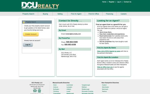 Screenshot of Login Page dcuhomes.com - Register/Log in to search for your dream home or contact us directly so we can learn how we can help you. - captured Nov. 13, 2018