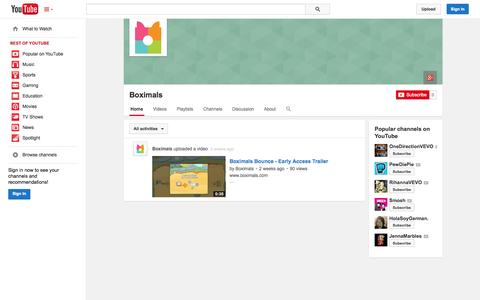 Screenshot of YouTube Page youtube.com - Boximals  - YouTube - captured Oct. 23, 2014