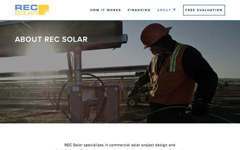Screenshot of About Page recsolar.com - About REC Solar | REC Solar - captured Feb. 20, 2016
