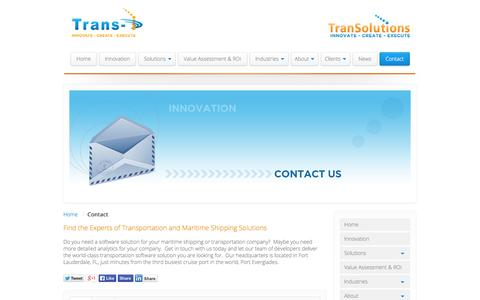 Screenshot of Privacy Page Contact Page trans-i.com - Find the Experts of Transportation and Maritime Shipping Solutions - captured Oct. 26, 2014