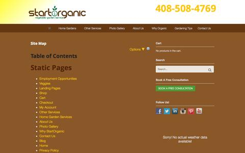 Screenshot of Site Map Page startorganic.org - Site Map for StartOrganic Website - StartOrganic - captured Oct. 1, 2014
