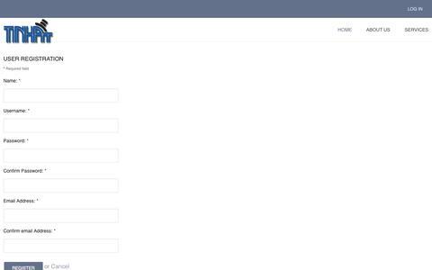 Screenshot of Signup Page tinhatsoftware.com - TinHat Software Web Development - TinHat Software Web Development - captured Oct. 7, 2014
