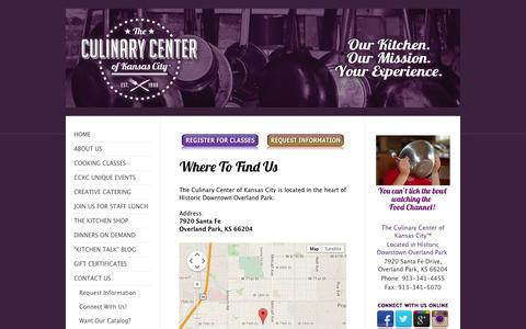 Screenshot of Maps & Directions Page kcculinary.com - The Culinary Center of Kansas City - Directions - captured Oct. 27, 2014