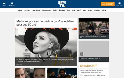 Screenshot of Team Page bfmtv.com - People : l'actualité people en photos et vidéos avec BFMTV.com - captured July 31, 2018