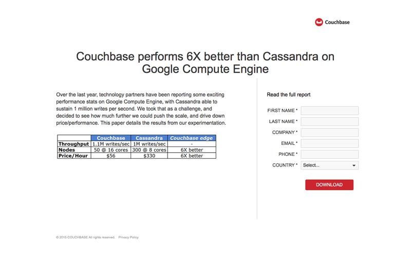 Couchbase outperforms Cassandra