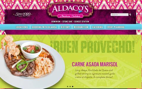 Screenshot of Login Page aldacosrestaurants.com - User account   Aldacos Mexican Cuisine - captured Feb. 5, 2016