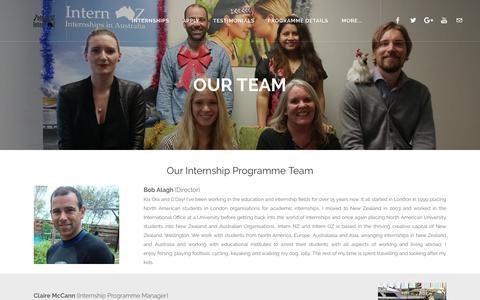 Screenshot of Team Page internnzoz.com - Our Team - Intern NZ & Intern OZ - captured Oct. 15, 2017
