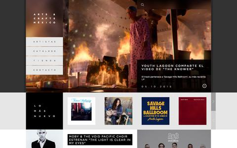 Screenshot of Home Page arts-crafts.com.mx - Arts & Crafts México - The Mexican indie label - captured Oct. 8, 2015
