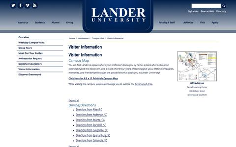 Lander Campus Map.High Traffic Education Maps Directions Pages Website Inspiration