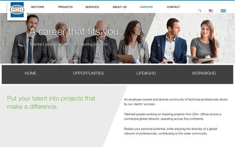 Screenshot of Jobs Page ghd.com - GHD Careers      - GHD - captured March 2, 2018