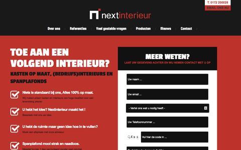 Screenshot of Home Page nextinterieur.nl - Nextinterieur, voor kasten op maat & spanplafonds - captured Oct. 7, 2014