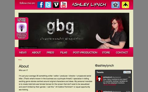 Screenshot of About Page gingerbreadgirlproductions.com - About | ashleylynch - captured Sept. 30, 2014