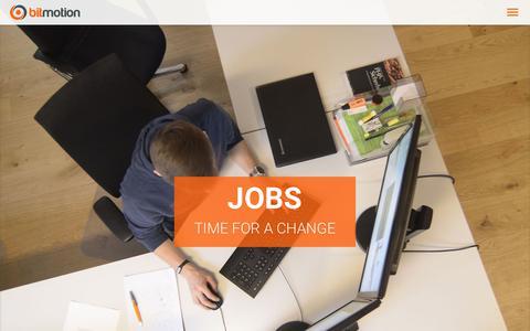 Screenshot of Jobs Page bitmotion.de - Web Developer & Online Marketing Jobs in Hannover | Bitmotion - captured Oct. 6, 2018