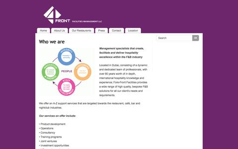 Screenshot of About Page 4-front.net - Who we are   - 4 Front - captured Oct. 7, 2014
