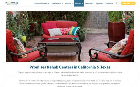California Drug Rehab & Texas Treatment Centers | Promises