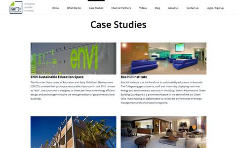 Screenshot of Case Studies Page switchautomation.com - Switch Automation | Case Studies from Switch Automation Projects - captured Sept. 30, 2014