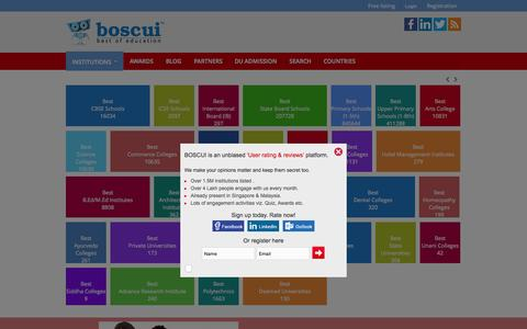 Screenshot of Home Page boscui.com - Best of schools colleges universities and Institutes Worldwide - captured Nov. 18, 2015