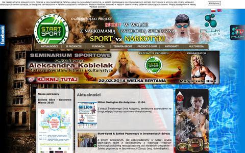 Screenshot of Home Page start-sport.pl - Start-sport.pl, start sport, sport jako alternatywa dla narkomani i patologii - captured Sept. 15, 2015