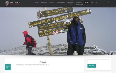 Screenshot of Blog kili-treks.com - Blog | Kili-Treks EN - captured Nov. 3, 2014