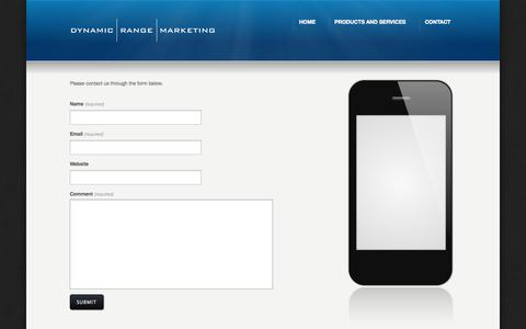 Screenshot of Contact Page dynamicrange.net - Contact «  Dynamic Range Marketing - captured Sept. 30, 2014