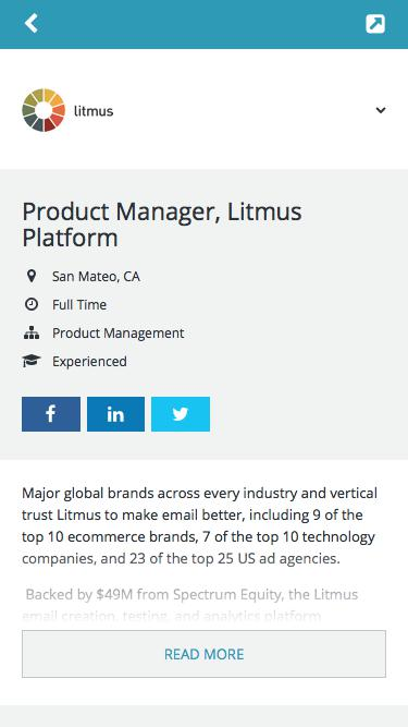 Product Manager, Litmus Platform -        Litmus -         Job Board