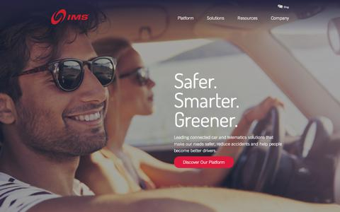 Screenshot of Home Page intellimec.com - IMS   Connected Car & Insurance Telematics Technology - captured Oct. 15, 2017