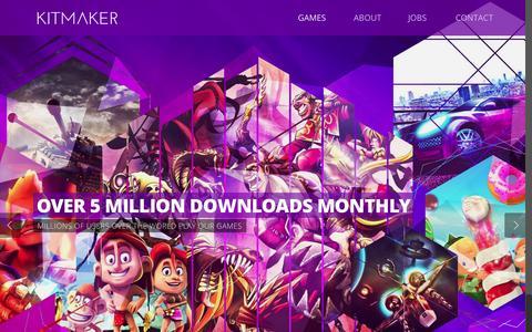 Screenshot of Home Page kitmaker.com - KITMAKER - captured Nov. 17, 2015