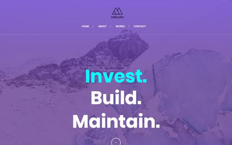 Screenshot of Home Page argura.co - Argura Limited | We Build Companies - captured July 30, 2018