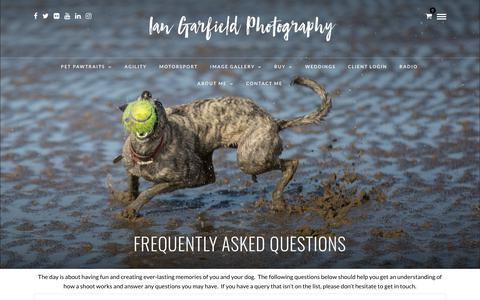 Screenshot of FAQ Page iangarfield.co.uk - Frequently asked questions - Ian Garfield Photography - Professional Photographer - captured Nov. 14, 2018