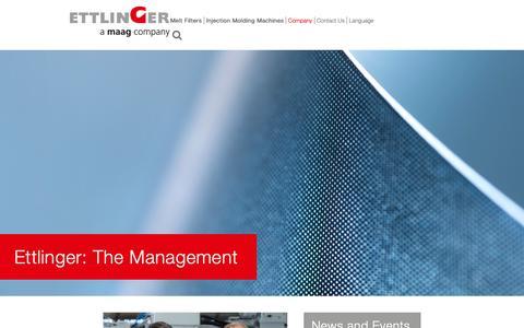 Screenshot of Team Page ettlinger.com - Management - captured Sept. 29, 2018